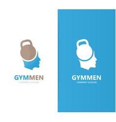 Sport and man logo combination gym and vector