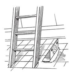 steel ladder shoe vintage vector image