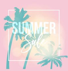 summer sale poster web banner silhouette vector image