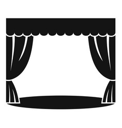 Theatrical curtain icon simple style vector