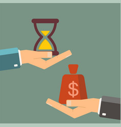 Time is money business concept businessman buying vector