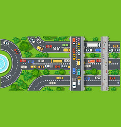 Top view of city map crossroads of urban streets vector