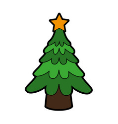 tree christmas related icon image vector image
