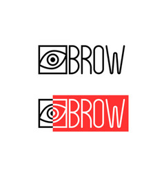 two thin line eyebrow logo vector image