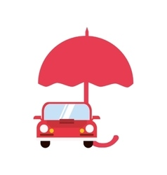 Umbrella and car icon vector