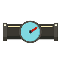 Water meter icon flat style vector