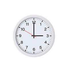 White circle wall clock face showing 3 oclock vector