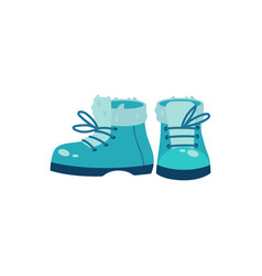 Winter footwear in flat style vector