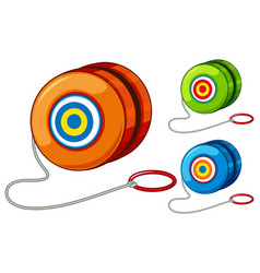 Yoyo in three different colors vector