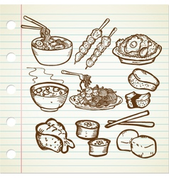ASIAN FOOD DOODLE vector image vector image