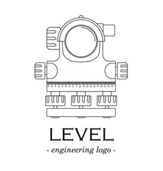 black-and-white logo of a level of lines vector image vector image