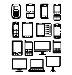 gadgets with screen vector image