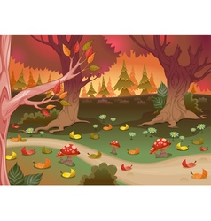 Natural landscape in the wood vector image vector image