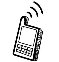Old school mobile phone icon vector image