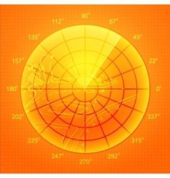 Orange radar screen vector image