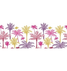 Palm trees horizontal seamless pattern background vector image