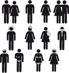 people symbol vector image