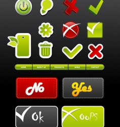 set of badges with symbols vector image vector image