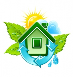 symbol of ecological house vector image vector image