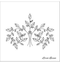 Tree brunch outline vector image