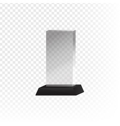 glass trophy and prize vector image vector image