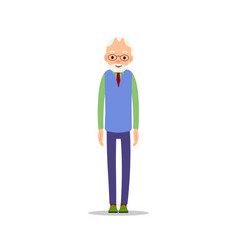 old man elderly man is stand and his arms are vector image vector image