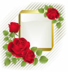 roses with frame vector image