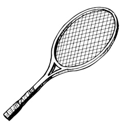 tennis bat vector image vector image