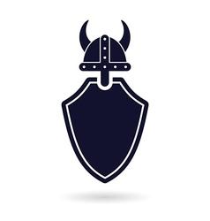 Viking shield logo vector