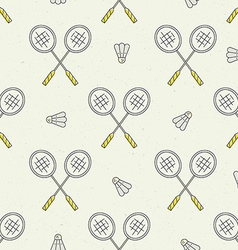 Badminton Pattern vector image