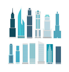 different skyscrapers isolated on white clip-art vector image vector image