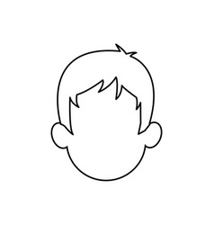 outline head man character person vector image
