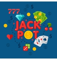 Casino in flat style vector image vector image