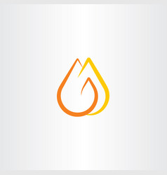 fire logo flame symbol icon vector image