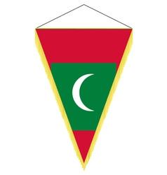 national flag of maldives vector image vector image