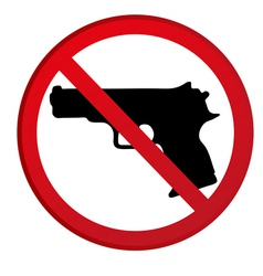 No guns allowed sign vector image vector image