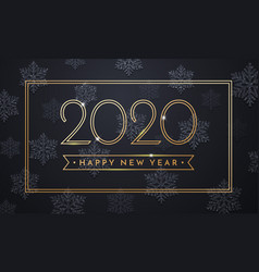 2020 happy new year greeting card sparkling vector