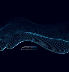 3d particles mesh array wave sound flowing vector image