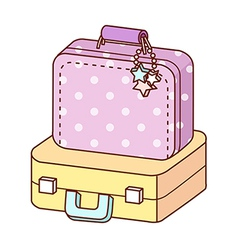 A view of suitcase vector