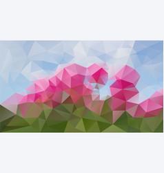 Abstract irregular polygonal background spring vector
