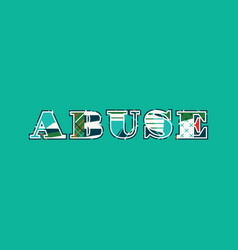 Abuse concept word art vector