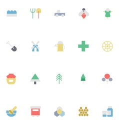 Agriculture Colored Icons 3 vector image