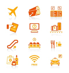 airport icons - juicy series vector image