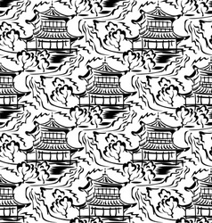 Asian temple seamless vector