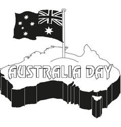 australia day 26 january vintage typographic vector image