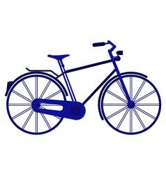 bike on white background vector image