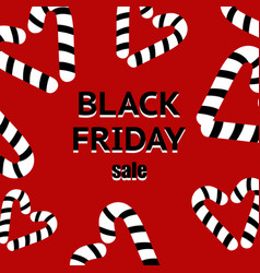 Black friday sale poster with shiny black hearts vector