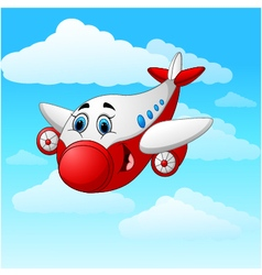 Cartoon plane character vector image