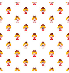 clown face with hat pattern vector image vector image