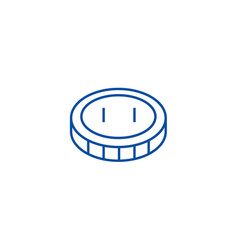 coincent line icon concept coincent flat vector image